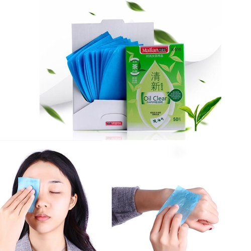 2 PCS Green Tea Moisturizing Cleansing Oil Absorbing Paper Face Cleaning Tool