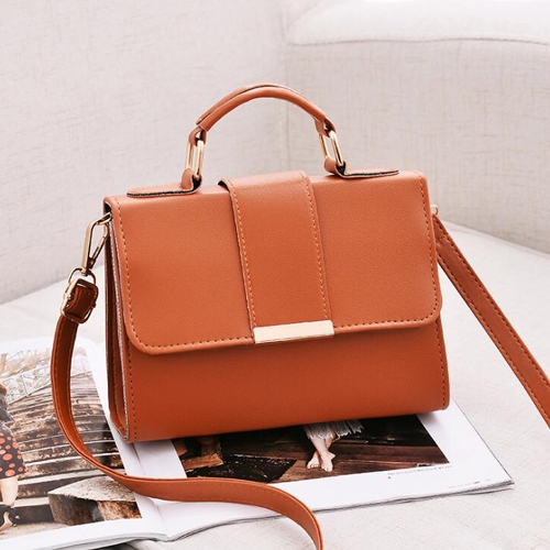 Women Bag Leather Handbags PU Shoulder Bag Small Flap Crossbody Bags for Women Messenger Bags(Brown)