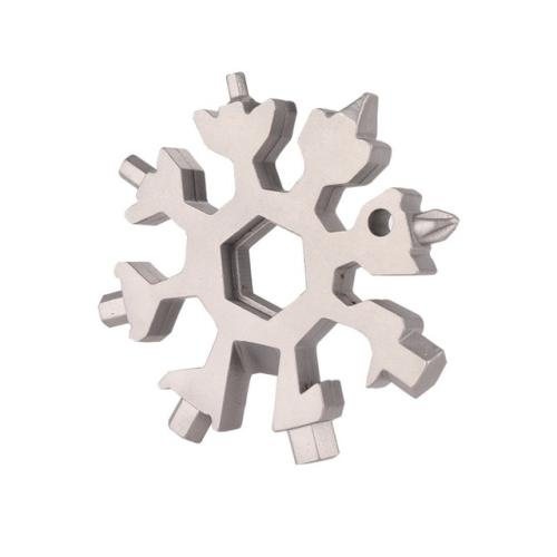 18-in-1 Multi-tool Portable Outdoor Octagonal Snowflake EDC Tool Wrench Mini Screwdriver(White)