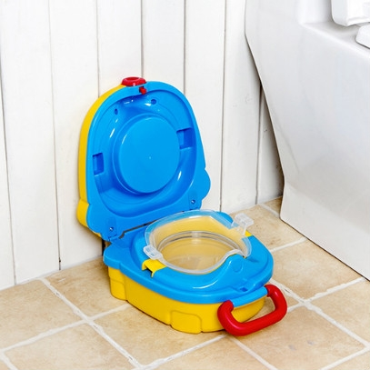 Sunsky Children Small Toilet Children Portable Toilet Travel Portable Car Mounted Yellow