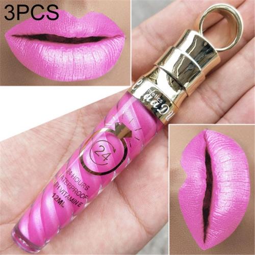 3 PCS Make Up Lips Matte Liquid Lipstick Waterproof Long Lasting Sexy Pigment Nude Glitter Style Lip Gloss Beauty Red Lip Tint(19)