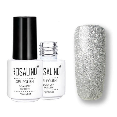 ROSALIND Gel Polish Set UV Semi Permanent Primer Top Coat Poly Gel Varnish Nail Art Manicure Gel, Capacity: 7ml 07