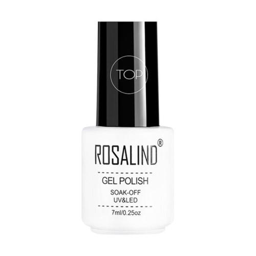 ROSALIND Gel Polish Set UV Semi Permanent Primer Top Coat Poly Gel Varnish Nail Art Manicure Gel, Capacity: 7ml TOP