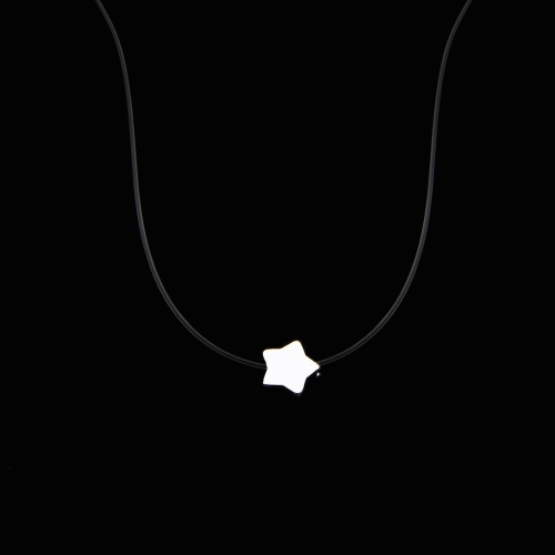 Women Star Pendant Necklace Choker Invisible Transparent Fishing Line Choker Hot