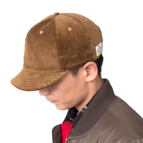 sunsky-online.com - 15% OFF by SUNSKY COUPON CODE: TBD0534076601 for Autumn and Winter Vintage Corduroy Short-Brimmed Hat Peaked Cap, Size:One Size(Khaki)