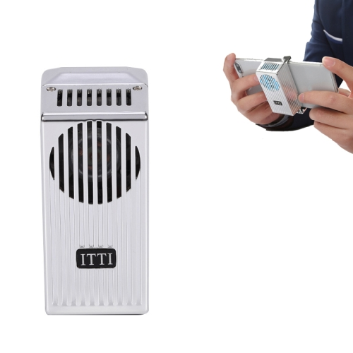 sunsky-online.com - 15% OFF by SUNSKY COUPON CODE: TBD0534840801 for JLYC002 Semiconductor Cooler Cooling Fan Mobile Phone Radiator for 4-6.5 inch Mobile Phones(Silver Gray)