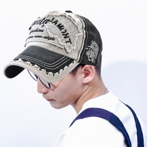sunsky-online.com - 15% OFF by SUNSKY COUPON CODE: TBD0535748501 for JAMONT 12970 Tiger Head Pattern Sun Hat Embroidery Baseball Cap Cotton Outdoor Leisure Cap, Size:One Size(Black)