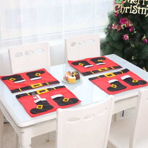 sunsky-online.com - 15% OFF by SUNSKY COUPON CODE: TBD0536083401 for 3 PCS Christmas Decoration Christmas Table Mat Knife And Fork Mat(Senior)