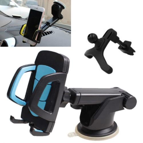 sunsky-online.com - 15% OFF by SUNSKY COUPON CODE: TBD0536374702 for 3 Sets Car Phone Holder Car Air Outlet Mobile Phone Holder Suction Cup Navigation Instrument Panel General, Style:3 in 1(Blue)