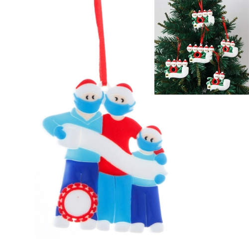 sunsky-online.com - 15% OFF by SUNSKY COUPON CODE: TBD0536375001 for 5 PCS Christmas DIY Survivor Decoration PVC Pendant, Specification: Family of Three