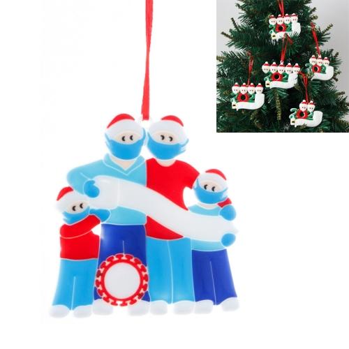 sunsky-online.com - 15% OFF by SUNSKY COUPON CODE: TBD0536375002 for 5 PCS Christmas DIY Survivor Decoration PVC Pendant, Specification: Family of Four