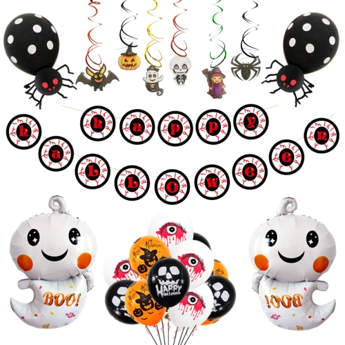 sunsky-online.com - 15% OFF by SUNSKY COUPON CODE: TBD05363764 for Halloween Balloon Set Ghost Balloon Spiral Pendant Holiday Party Supplies Decoration