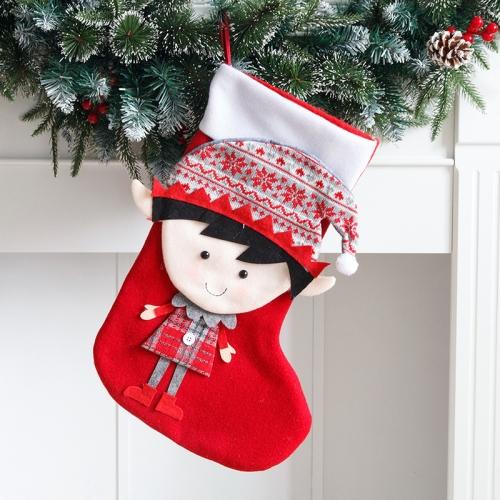 sunsky-online.com - 15% OFF by SUNSKY COUPON CODE: TBD0536376501 for 2 PCS Christmas Stocking Gift Bag Candy Bag(Boy)