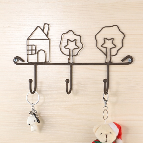 sunsky-online.com - 15% OFF by SUNSKY COUPON CODE: TBD0536997601 for 2 PCS Free Perforated Hook Wall Hanging Rack Bathroom Wall Clothes Hook Storage Hook, Style:House Models