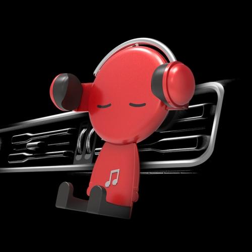 sunsky-online.com - 15% OFF by SUNSKY COUPON CODE: TBD0537205601 for Mobile Phone Holder Car Air Outlet Car Phone Holder Cartoon Navigation Mobile Phone Holder(Red)