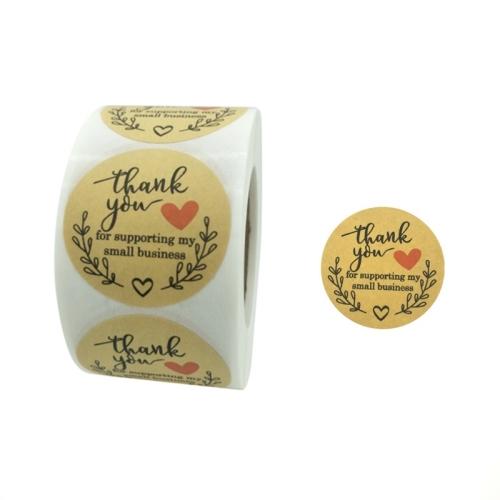 sunsky-online.com - 15% OFF by SUNSKY COUPON CODE: TBD0537206501 for 3 PCS Rolls Thank You Stickers Baking Gift Sealing Sticker Wedding Holiday Label, Size: 2.5cm / 1inch
