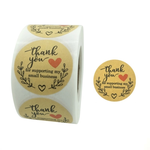 sunsky-online.com - 15% OFF by SUNSKY COUPON CODE: TBD0537206502 for 3 PCS Rolls Thank You Stickers Baking Gift Sealing Sticker Wedding Holiday Label, Size: 3.8cm / 1.5inch