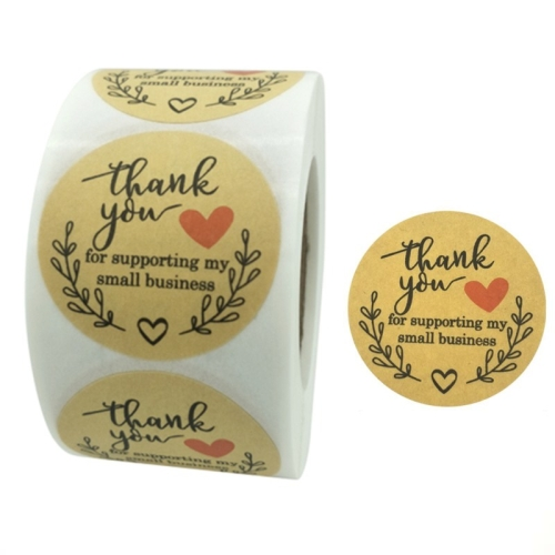 sunsky-online.com - 15% OFF by SUNSKY COUPON CODE: TBD0537206503 for 3 PCS  Rolls Thank You Stickers Baking Gift Sealing Sticker Wedding Holiday Label, Size: 5.0cm / 2inch