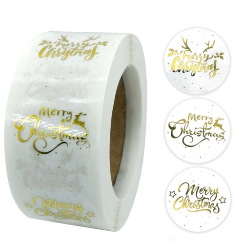 sunsky-online.com - 15% OFF by SUNSKY COUPON CODE: TBD0537381601 for 3 PCS Roll TransparentHot Gold Stickers Christmas Stickers Holiday Gift Stickers, Size: 2.5cm / 1inch(K-21-25)