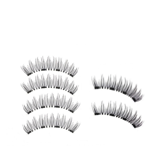 3 Pair 3D Magnetic Eyelashes Magnetic Lashes Natural False Eyelashes(52HB-4)
