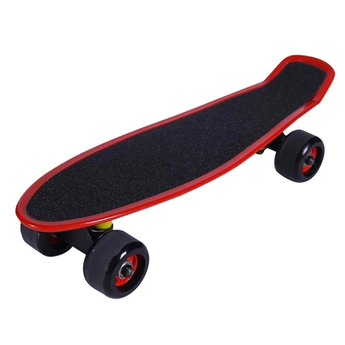 JC-007 22 inch Frosted Single-turn Four-wheeled Fish-shaped Skateboard Suitable for Children(Red)