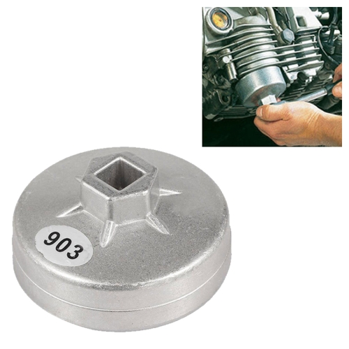 1Pc 74mm 14 Flute Aluminum Oil Filter Wrench Socket Remover Tool For BMW Silver