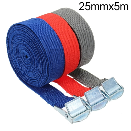Car Tension Rope Luggage Strap Belt Auto Car Boat Fixed Strap with Alloy Buckle,Random Color Delivery,Length:5m ...
