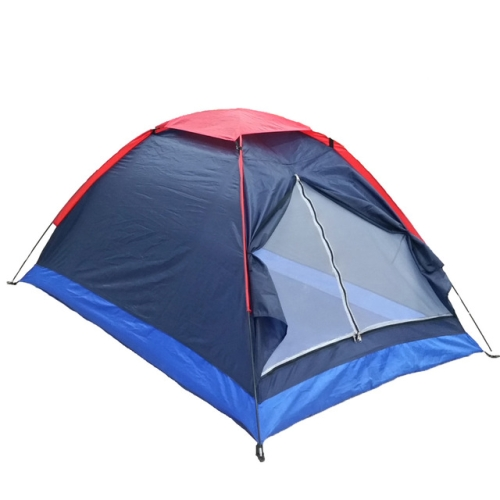 2 Persons Camping Tent Single Layer Beach Outdoor Travel Windproof Waterproof Summer Awning Tents with Bag, Random Color Delivery