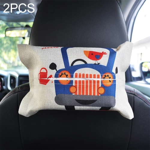 Car Tissue Box Cover Case Holder Paper Container Seat Hanging Napkin Box