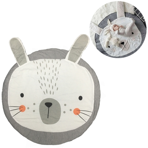 Baby Infant Play Mats Kids Crawling Carpet Floor Rug Baby Bedding Rabbit Blanket Cotton Game Pad Children Room Decor(Grey Rabbit)