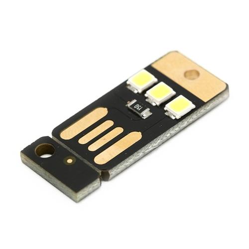 10 PCS Mini Pocket Card USB Power Keychain LED Night Light(Black)