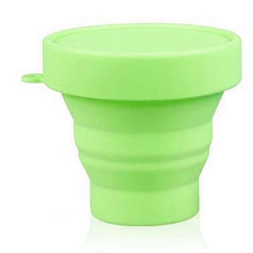 Portable Silicone Outdoor Camping Sports Eco-friendly Folding Telescopic Cup(Green) фото