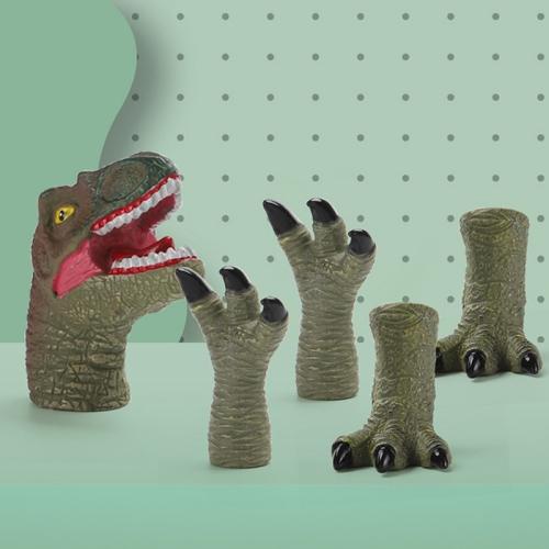 Children Dinosaur Toy Soft Rubber Finger Doll Cartoon Dinosaur Model Parent-Child Toy, Style: Tyrannosaurus  - buy with discount