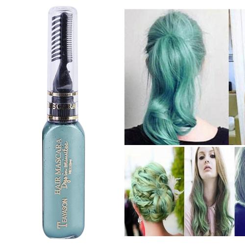 One-time Hair Temporary Color Hair Dye Non-toxic DIY Hair Color Mascara Dye Cream Hair(Green)