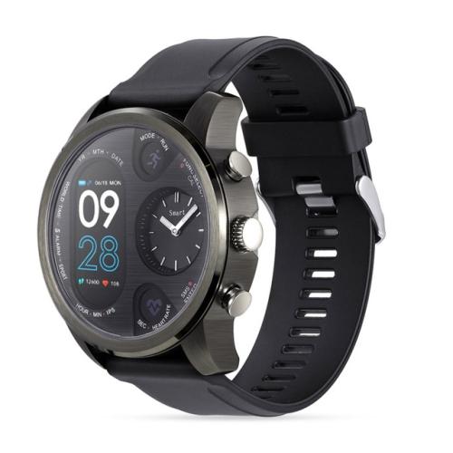 T3 Dual Display Smart Watch For Men IP68 Waterproof Fitness Bracelet 15 Days Standby Business Smartwatch Activity Tracker(Gray)