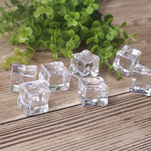 1Square Fake Ice Cube Photo Props Gourmet Photography Decoration Model  - buy with discount