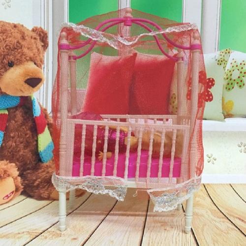 SUNSKY - 5 PCS Doll House Plastic Baby Cot Miniature ... on