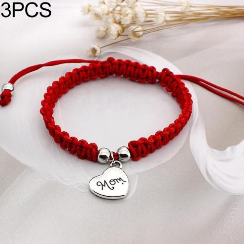 0f9f2a8fdf30 SUNSKY - 3 PCS Family Bless Thread Pulsera Roja Para Mujer Pulsera ...