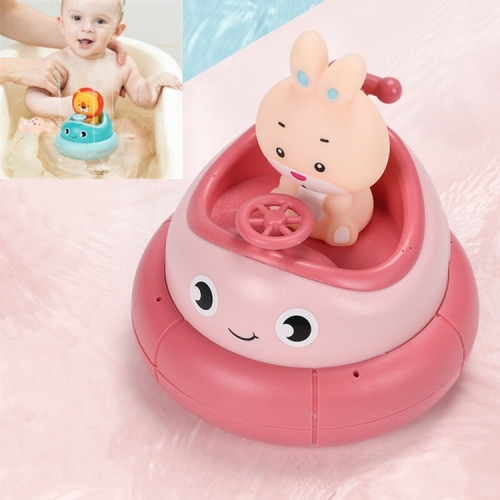 Children Bathroom Electric Rotating Cup Water Spray Bathing Puzzle Water Toy(Pink Rabbit)