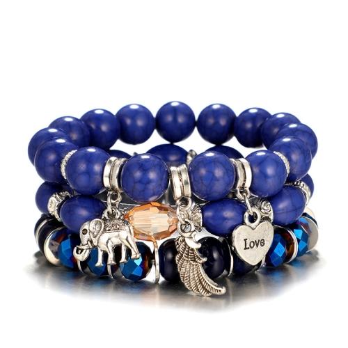 Couple Beaded Bracelets for Women Bohemian Multilayer Trendy Beads Bangles
