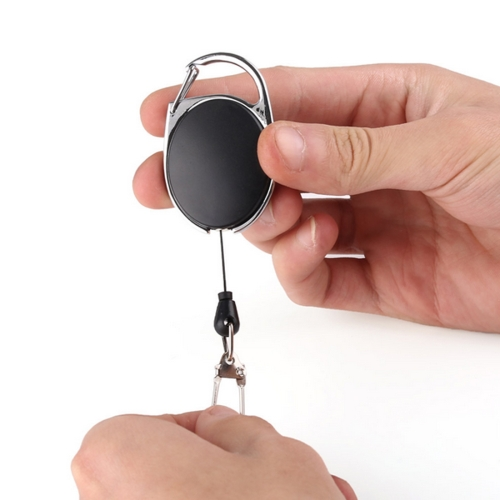 5PCS Outdoor Telescopic Wire Rope Key Ring Burglar Keychain EDC Retractable Chain Return key Ring Holder