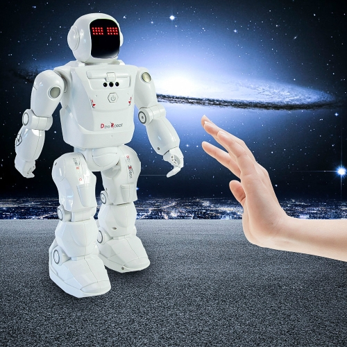 Dacing Mode RC Robot Motion Control Programmable Actions Facial Light Sounds Toys Smart Robot(White) фото