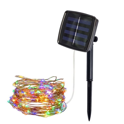 22m 200 LEDs Solar Powered Home Garden Copper Wire String Fairy Light Outdoor Christmas Party Decor Strip Lamp with 8 Modes(RGB)