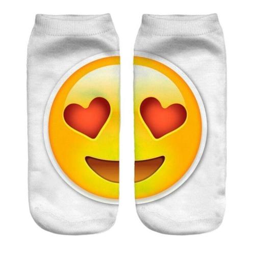 Women/'s Emoji Emoticon Design Thin Lightweight Low Cut Ankle Socks 24 Pairs