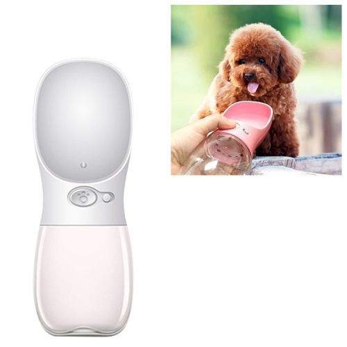 Portable Pet Dog Water Bottle Small Large Dog Travel Puppy Cat Drinking Water Bowl Outdoor Pet Water Dispenser Feeder Pet Supplies, Size:350 ml(White)