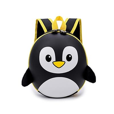 EVA Hard Shell Penguin Schoolbag Children Cartoon Lovely Backpack(Black)