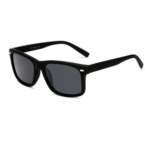 2 PCS Men Polarized Sunglasses Night Vision Anti-glare Driving Sun Glasses Goggles(Matte Black Frame Gray Lens)