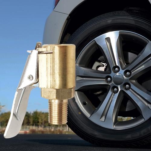 8MM Car Tyre Wheel Tire Air Chuck Inflator Pump Valve Clip Connector Adapter EYB