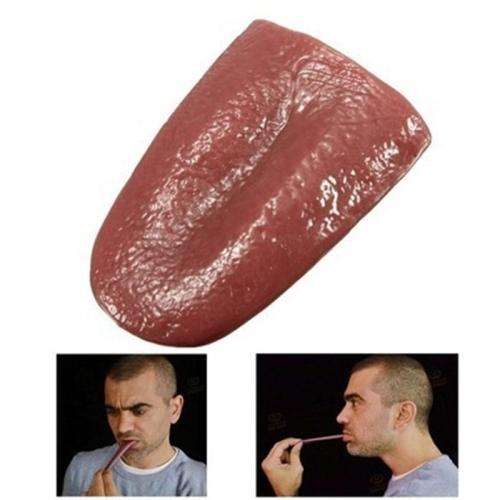 Halloween Funny Magic Tricks False Simulation Tongue Decompression Toy