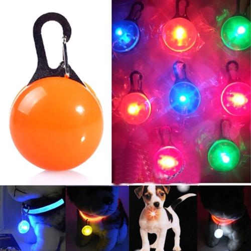 LED Flashlight Dog Cat Collar Glowing Pendant Luminous Bright Decoration Collars(Orange)